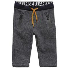 Baby Boys Blue Jersey Fleece Trousers, Timberland, Boy