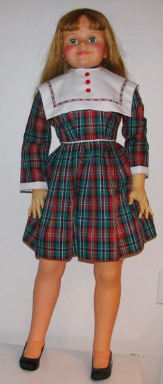 "1961 RARE HUGE 42""  Playpal Ideal Daddy's Girl Doll Lovely Replacement Dress"