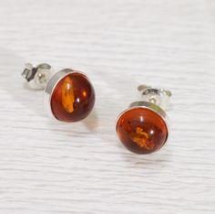 Baltic amber earrings silver studs, minimalistic jewelry Amber Earrings, Small Earrings, Silver Earrings, Stud Earrings, Photo Jewelry, Fashion Jewelry, Gifts For Women, Gifts For Her, Baltic Amber