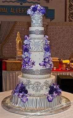 Purple and Silver Grand Cake