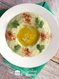 Paleo Zucchini Hummus - I made this for dinner last night and it was DELICIOUS! We had it with the Paleo Chicken Shawarma and Tabouleh....so good! Will make again and again.