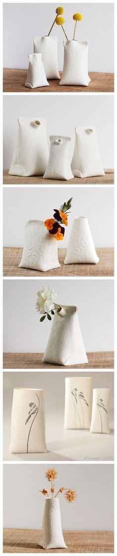 Beautiful Artisan Porcelain Vases for the Artist on your list!