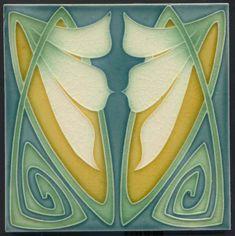 Art Nouveau Reproduction decorative Ceramic tile X or 6 x 6 Inches 14 Motifs Art Nouveau, Azulejos Art Nouveau, Design Art Nouveau, Motif Art Deco, Antique Tiles, Vintage Tile, Jugendstil Design, Art Nouveau Tiles, Inspiration Art