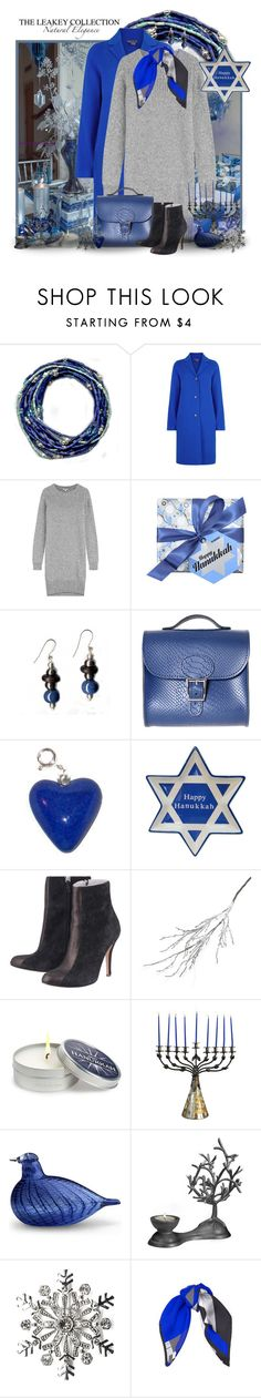 """""""Happy Hanukkah"""" by theleakeycollection ❤ liked on Polyvore featuring Vince, Kenzo, Brit-Stitch, St. Nicholas Square, Crate and Barrel, Mine Design, Dot & Bo, iittala, Kim Rogers and Jimmy Choo"""