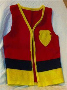 fireman dress up vest daycare dramatic play size 4-6