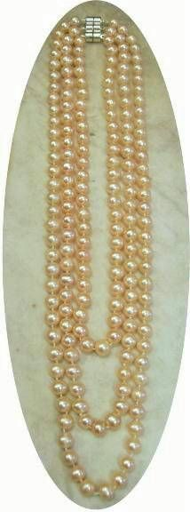 Gorgeous-You can simply string your pearls or you can knot in betwn add a clasp and you have a classic keeper