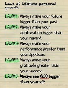 Laws of Lifetime personal growth