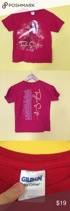 Taylor Swift Speak Now Tour Shirt Red Taylor Swift Tour Shirt Taylor Swift Tops Tees - Short Sleeve