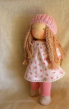RESERVED for Rebecca- Final payment -CUSTOM Waldorf doll 12 inch. $89.50, via Etsy.