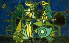 Composición con Fondo Azul - Oscar Dominguez - WikiArt.