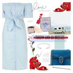 """""""Easy Peasy: Throw-and-Go Dresses"""" by bklana ❤ liked on Polyvore featuring Topshop, Gucci, Stila, Pablo, Laurence Dacade, Edge of Ember, Eve Lom, Hourglass Cosmetics and bklana"""
