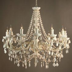 Candle Chandelier with Pearls - Bing images