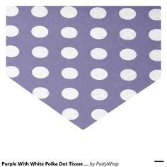 """Purple With White Polka Dot Tissue Paper 10"""" X 15"""" Tissue Paper"""