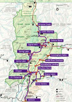 Grand Teton National Park Map 1 Day Map