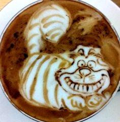 .·:*¨¨*:·. Coffee ♥ Art.·:*¨¨*:·. Cheshire cat latte