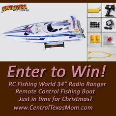 How would you like to enter to #win a RC Fishing World 34″ Radio Ranger Remote Control Fishing Boat? Just in time for #Christmas! ☃☃☃ Enter this #giveaway before it ends 11/28/13