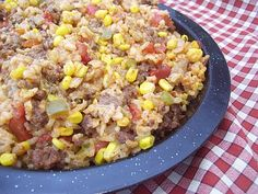 Beef and Rice Fiesta Skillet
