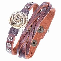 Rindsleder Armband, Kuhhaut, antike Bronzefarbe plattiert, rot, frei von Nickel, Blei & Kadmium, 24mm, Länge:ca. 8.5 Inch, - perlinshop.com