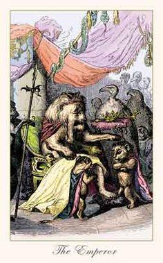 The Emperor - The Fantastic Menagerie Tarot by Alex Ukolov, Karen Mahony The Emperor Tarot, Tattoo Prague, Sacred Art Tattoo, Th 5, Victorian Illustration, Tarot Major Arcana, Oracle Tarot, Tarot Decks, Tarot Cards