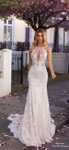 Milla Nova Blooming London 2019 wedding dresses Opra - Angela Home Stunning Wedding Dresses, Dream Wedding Dresses, Bridal Dresses, Beautiful Dresses, Nice Dresses, Gorgeous Dress, London Wedding, Wedding Looks, Wedding Styles