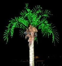 LED Lighted Palm Trees
