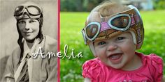 Amelia in her Aviator helmet DOC band/helmet/Cranial band  https://www.facebook.com/pages/Cranial-BandsMurals-by-Leigh-Gibson/153150921414230
