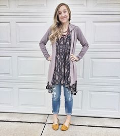 Lace dress over jeans vs jeggings