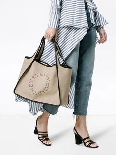 Tote Bags, Save The World, Stella Mccartney Bag, Linen Bag, Luxury Bags, Fashion Handbags, Dressing, Couture, Beige