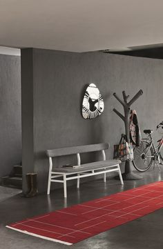 Upholstered fabric bench with back BRICK 215 Brick Collection by Gervasoni | design Paola Navone