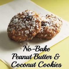 No-Bake Peanut Butter & Coconut Cookies