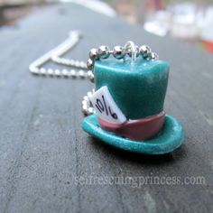 Mad Hatter Pendant Necklace by SelfRescuingPrincess on Etsy, $11.00