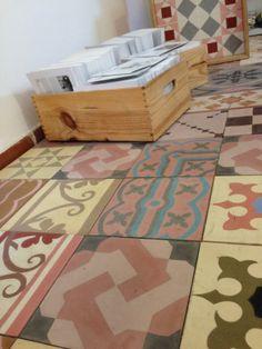 #cement tiles  #enticdesigns  #baldosas hidraulicas #suelos bonitos  #patchwork tiles Tiles, Industrial, Contemporary, Colors, Home Decor, Encaustic Tile, Scrappy Quilts, Flooring, Rome