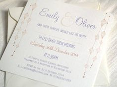 'hanging lanterns' wedding invitations by beautiful day | notonthehighstreet.com