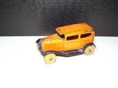 Antique Wyandotte Metal Products Toy Sedan orange pressed steel Taxi 1930's  #Wyandotte #Unknown