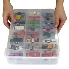 """For all of Gunners """"special"""" little cars. Holds 50 cars each so will only need 3 maybe 4 containers...."""