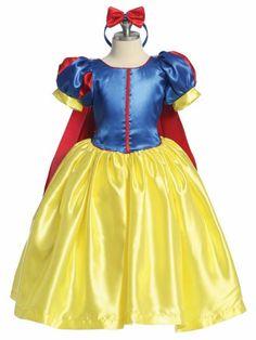 Snow White girls  Size 2T-10 Princess snow white costume dress. $50.00, via Etsy.