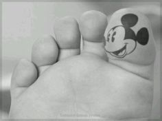 Mickey Mouse Foot Tattoo