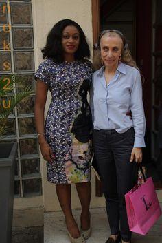 Nigerian designer, Lanre Da Silva, with Franca Sozzani, Vogue Italia editor in Nigeria