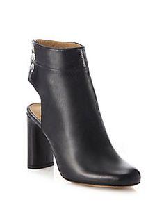 IRO - Matyi Cutout Leather Block-Heel Booties