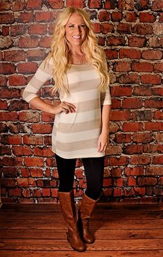 RubyClaire's Striped Tunic Dress ~ 3 colors!