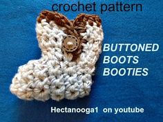 free CROCHET PATTERN - BUTTONED BOOT Baby BOOTIES, 3 - 6 months,