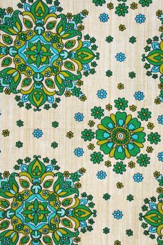 This original vintage curtain is as new... I love the pattern and bright colors...