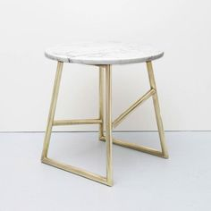 Algedi Table with Brass Base