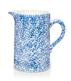 Ideal for any occasion — and, as in Tory's own home, our Spongeware Pitcher can double as a vase for holding fresh flowers