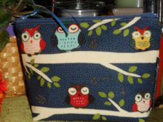 Night Owls Make Up / Coin / Storage / Organizer / Cell Phone Pouch - pinned by pin4etsy.com