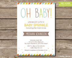 Oh Baby Shower Sprinkle Invitation Printable Gender Neutral DIY