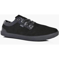 Boohoo Suede And Pu Panelled Lace Up Plimsoll (1,030 INR) ❤ liked on Polyvore featuring men's fashion, men's shoes, men's sneakers, mens lace up shoes, mens suede shoes, mens canvas sneakers, mens suede sneakers and mens suede lace up shoes