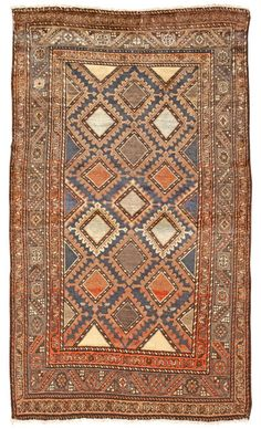 Antique Hamadan Persian Rug- gorgeous!  love the colors and design.