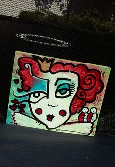 The Red Queen from Alice in Wonderland by spitfaced on Etsy
