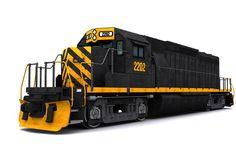 EMD SD40-2 train 3d